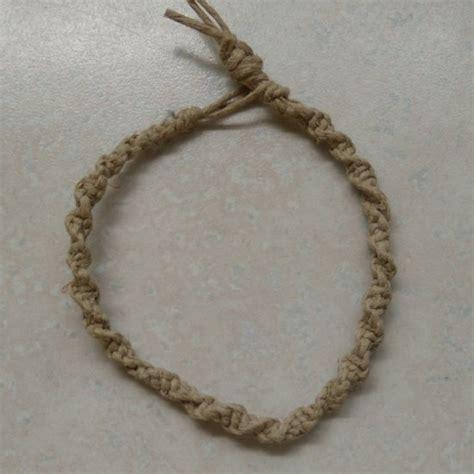 Square Macrame Knot - macrame 20 hemp bracelet square knot twist