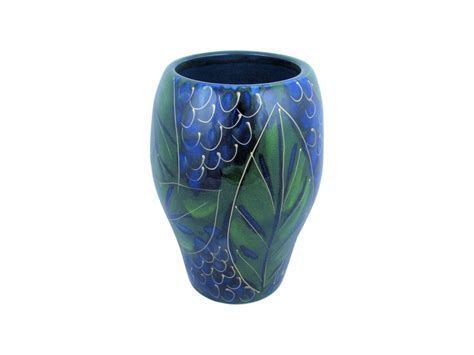 Blueberry Design Hand Thrown Vase Anita Harris Art Pottery