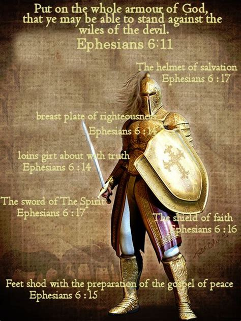 armoir of god put on the whole armour of god that ye may be able to