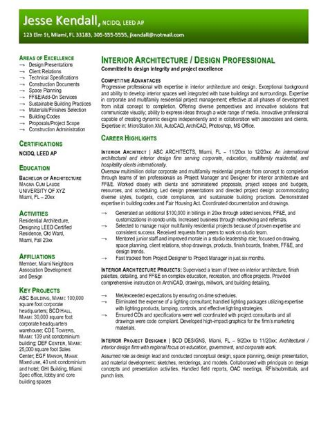Resume Exles For Architecture Architecture Products Image Architecture Resume Sle
