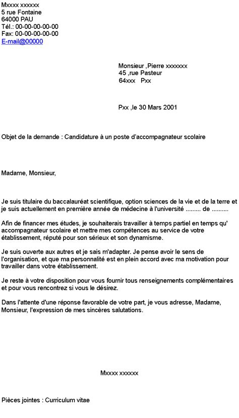 lettre de motivation restauration collective sans diplome
