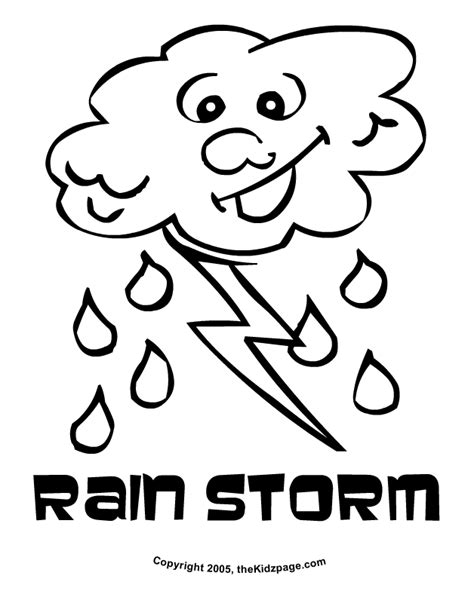 weather coloring pages for kids coloring home