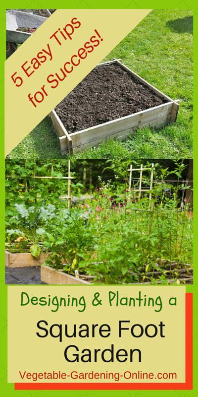square foot garden designs tips  plans