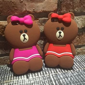 Iphone 6 4 7inchi 3d Teddy Brown Soft Silicone T1910 1 best 3d teddy products on wanelo