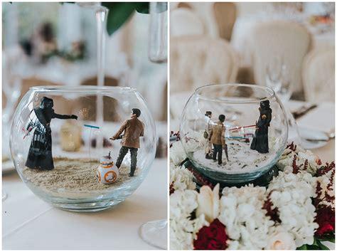 wars wedding in with terrarium centerpieces
