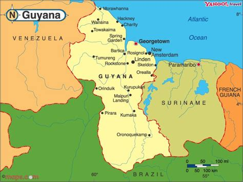 where is guyana on the world map essequibo post