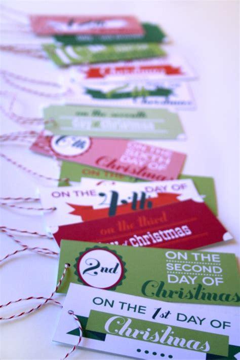 printable twelve days of christmas tags 12 days of christmas christmas printables roundup