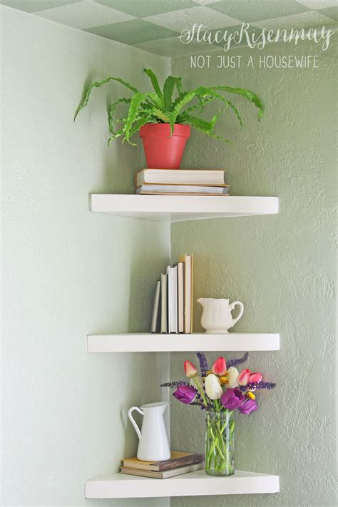 corner wall bookshelves floating corner shelves risenmay