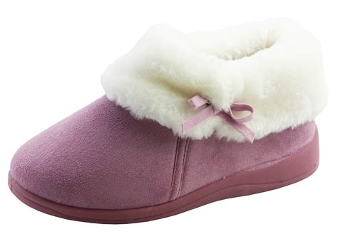 fur slipper boots dunlop slippers fur lined warm slipper boot winter