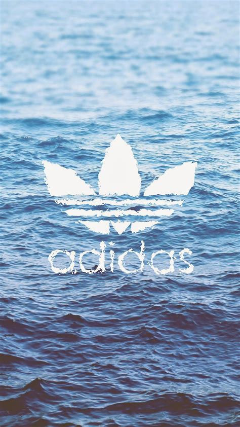 adidas logo  water wallpaper  iphone