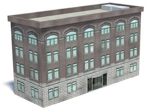 How To Make Paper Models Of Buildings - railroad model buildings office building kit b424