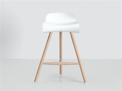 White Stool by Buy The Kristalia Bcn Bar Stool On Wooden Base At Nest Co Uk