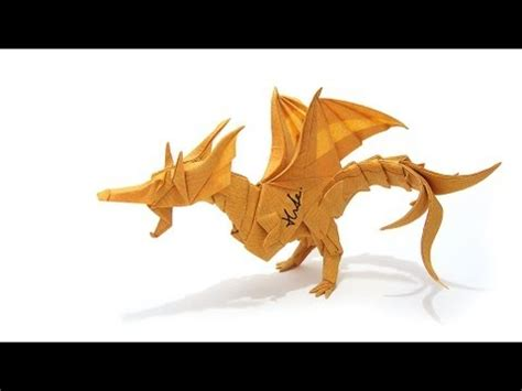 How To Make An Origami Fiery - origami fiery ver 2 摺紙噴火飛龍第二版 kade chan