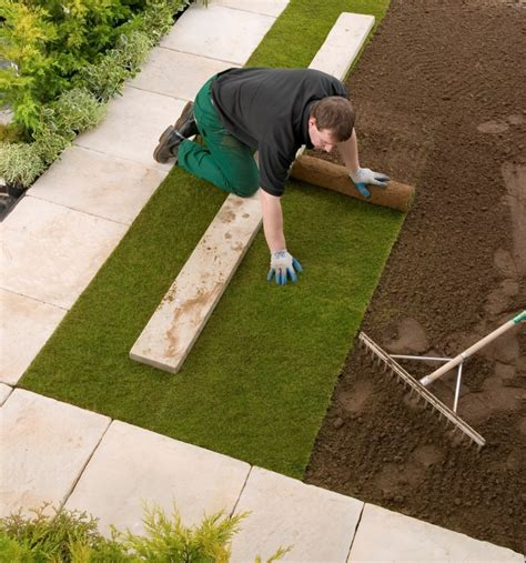 How To Lay A Patio On Soil laying turf on top soil tips how to build a house