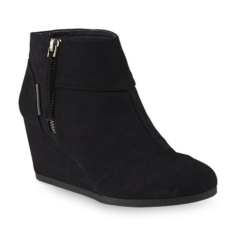 Boots Fashion Ad An 30 Wedges Hitam attention s emmy black wedge bootie shoes