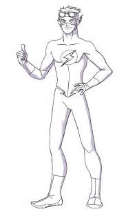 Young Justice Kid Flash Coloring Pages Sketch Page sketch template