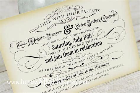 Free Printable Vintage Wedding Invitation Templates Free Vintage Wedding Invitation Templates