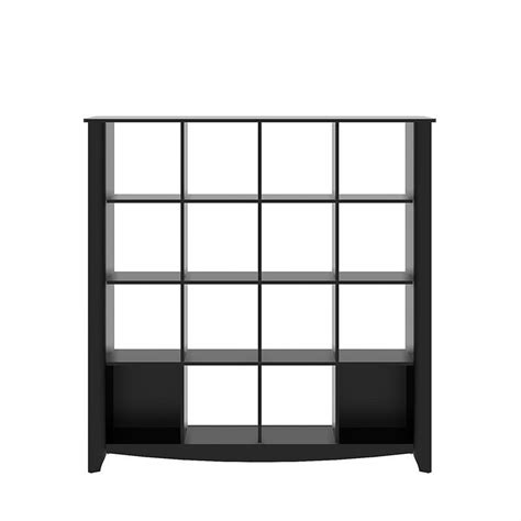 Cube Room Divider Bush Aero 16 Cube Bookcase Room Divider In Classic Black My16903 03