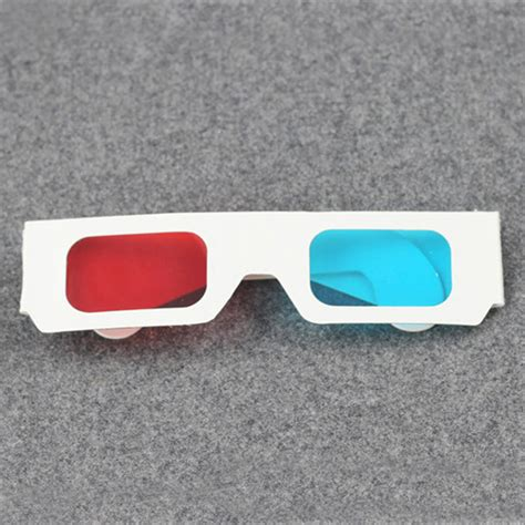 How To Make 3d Glasses With Paper - 10 x universal anaglyph cardboard paper blue cyan 3d