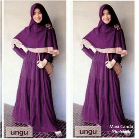 Gamis Remaja Warna Ungu Gamis Modern Maxi Canda Baju Muslim Grosir