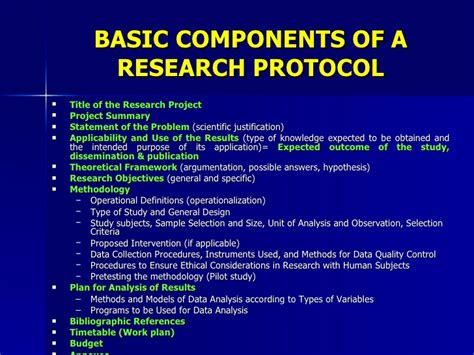 how to write a research protocol template writing a health research