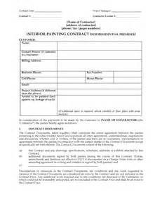 How To Write A Painting Contract by Interior Painting Contract Residential Forms And