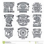 Sport Emblem Set Graphic Design For T Shirt Stock Vector