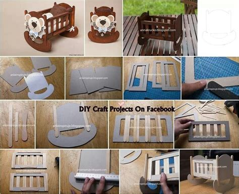 Diy Mini Crib by Diy Miniature Popsicles Baby Crib For Smaller 1 12 Scale Could Be Adaptedcks With Tny Craft