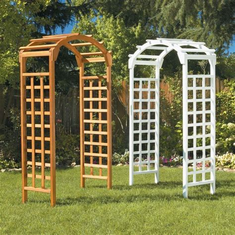 Garden Arbor With Gate Home Depot 25 Best Images About Wooden Arches Ideas On