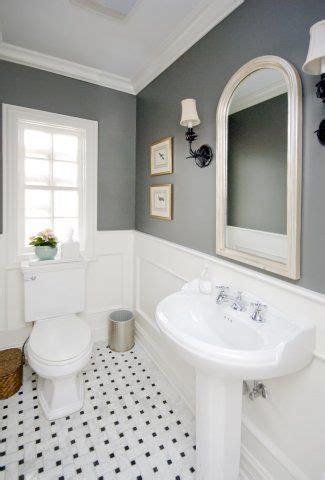 bathroom with chair rail gray and white parisian i will do this in our master
