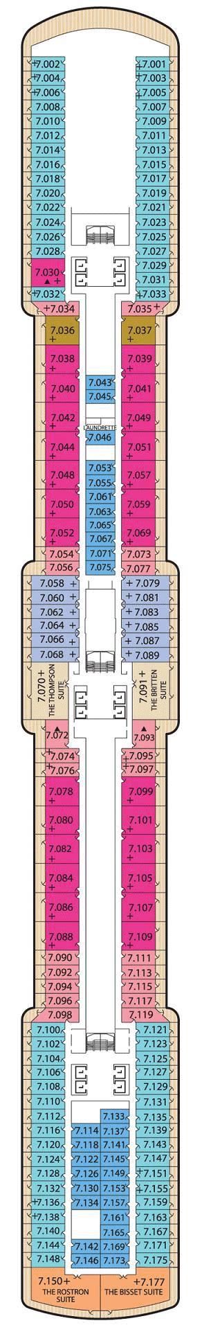 Deck Plan Elizabeth by Cunard Cruises Elizabeth Deck Plans