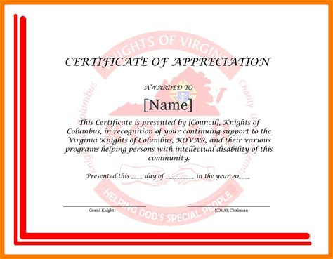 brilliant ideas of appreciation certificate wording about