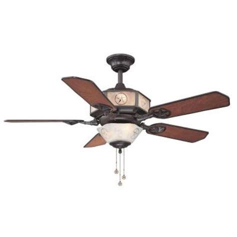 texas star ceiling fan hton bay lonestar 52 in aged copper and white rock