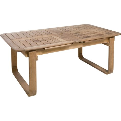 tables de jardin table de jardin naterial resort rectangulaire naturel 6 8 personnes leroy merlin