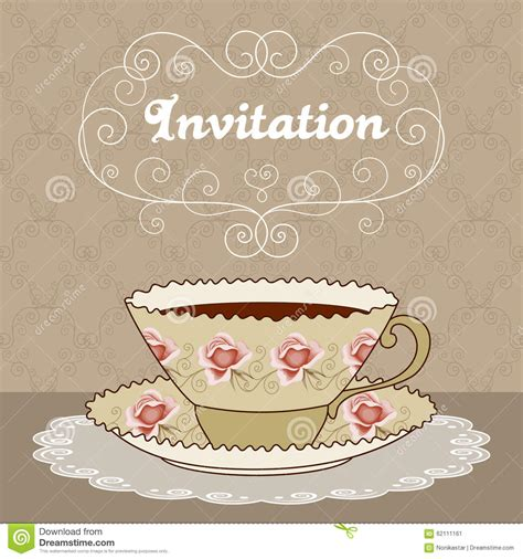 tea card template customize tea card stock vector image of card chocolate
