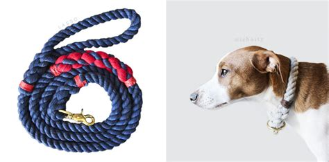 Handmade Collars And Leashes - modern handmade rope collars and leashes by lasso milk