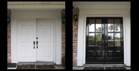 front door before and after when s the best time to replace my front door doors of