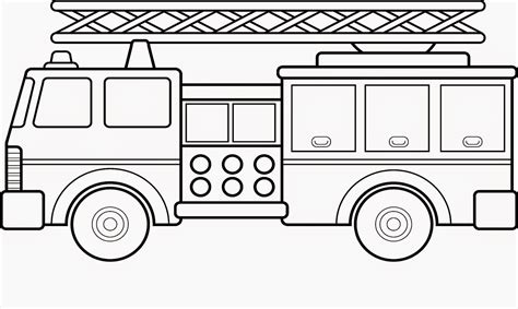fire truck coloring sheets free coloring sheet