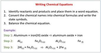 writing a balanced chemical equation solutions exles