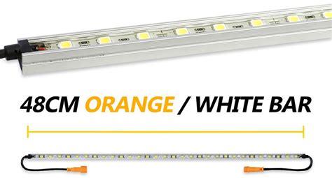 Orange Led Light Bar Korr 48cm Orange White Led Light Bar Snowys Outdoors