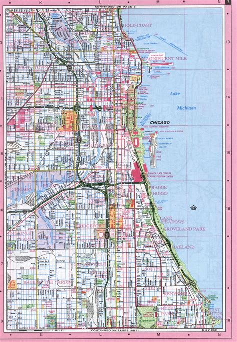 map of chicago kansas city expressway city of chicago