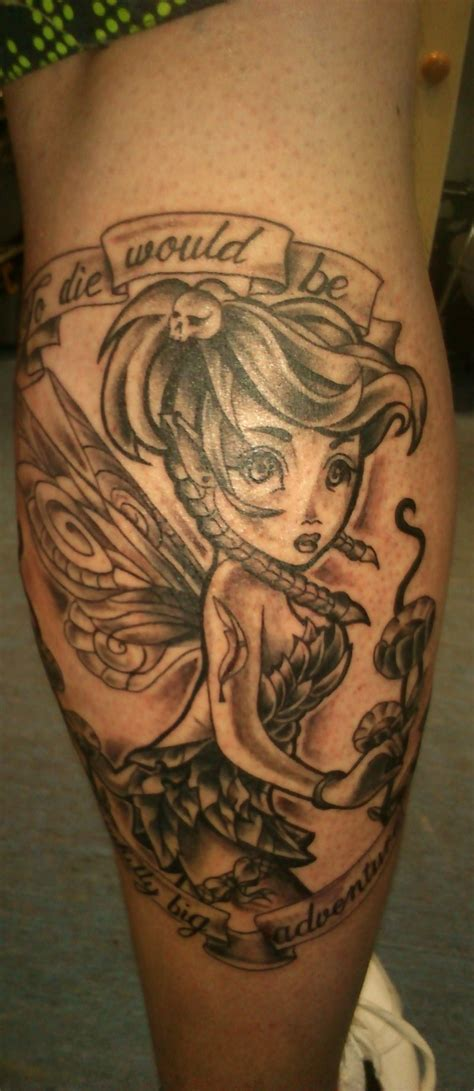 gothic tinkerbell tattoo designs tinkerbell by malitia tattoo89 on deviantart