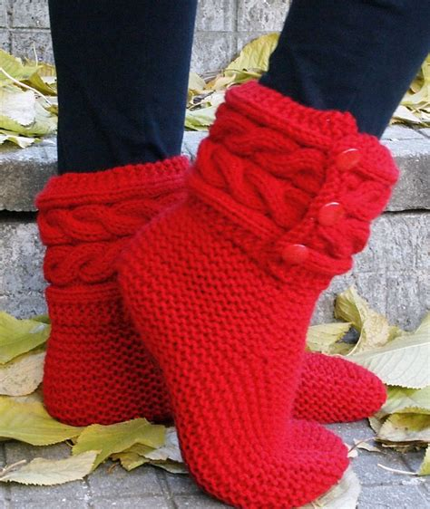 knitting pattern boot socks free knitting pattern for cable cuff boot style slippers