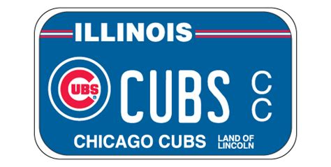 Cyberdriveillinois Vanity Plate by Chicago Cubs Motorcycle License Plates