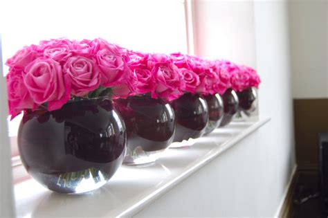 pink and black centerpieces for weddings color inspiration pink