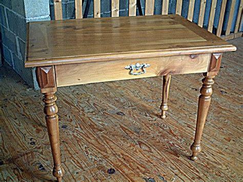 Table Bureau Ancienne Merisier Pieds Tourn 233 S Tiroir En Le De Bureau Ancienne