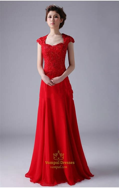 Longdress Cap cap sleeve prom dresses chiffon prom dress