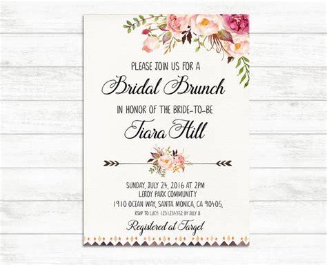 free printable bridal shower brunch invitations bridal brunch invitation printable bridal invite floral