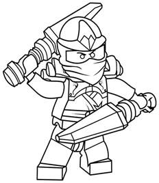 double swoard ninjago coloring pages coloringsuite
