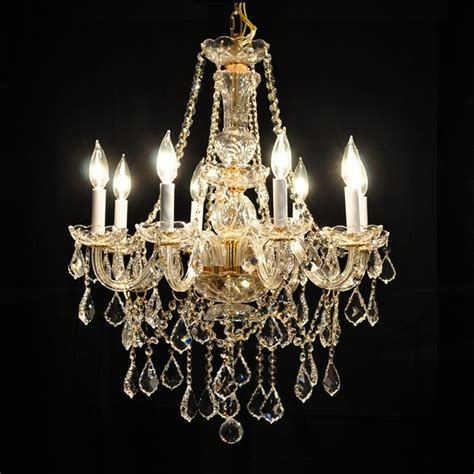 Crystals For Chandeliers Gold Or Chrome Glass Arm Traditional Chandelier Lighting Fixture Traditional